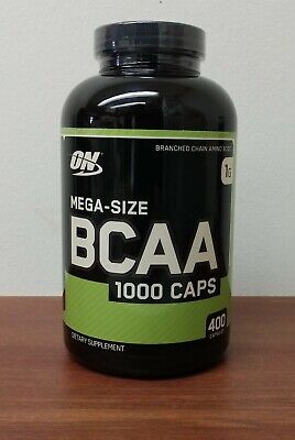 Optimum Nutrition BCAA 1000 Caps Branched Chain Amino Acids Mega 400 Capsules