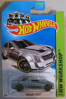 Hot Wheels 2013 HW Workshop CADILLAC CTS-V 152/250 Kmart Exclusive silver / gray