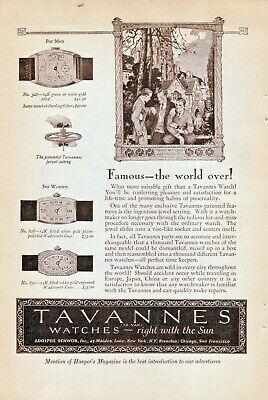 Tavannes Watch 1926 Vintage Wrist Watch Vintage Advertisement L1