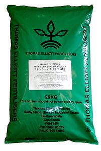 714sqm Lawn Food/Feed Fertiliser Spring/Summer + Moss Control + Magnesium 25Kg