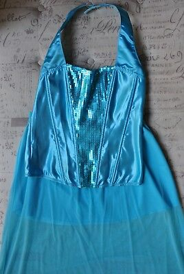 Princess Jasmine Halloween Costume for Adults Medium Size Color Turquoise (Jasmine Halloween Costume Adults)
