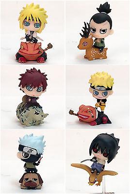 """Naruto Mini Figures Set Toys : Kakashi Sasuke Gaara Namikaze NEW Amine 2.5"""""""