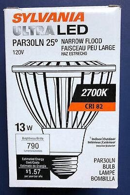 Sylvania 13W PAR30 Long Neck Ultra LED 2700K Dimmable Narrow Flood Light Bulb  - Long Neck Par30 Narrow Flood