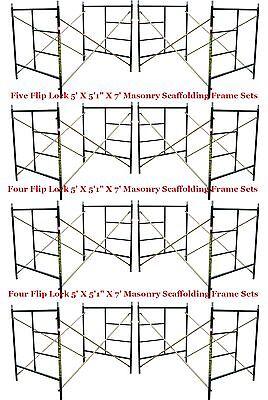 Eight Set New Flip Lock 5 X 51 X 7 Masonry Scaffolding Frame Set Cbmscaffold