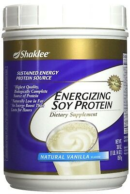 Shaklee Energizing Soy Protein Dietary Supplement Natural Vanilla Flavor 30 (Natural Soy Protein)