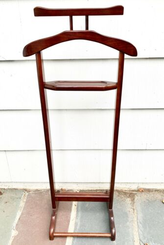Vintage Bombay Company Wood Valet Butler Rack Suit Stand