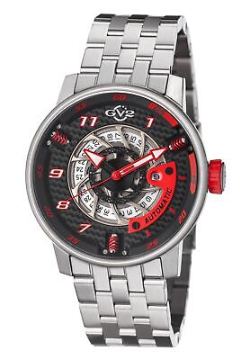 GV2 By Gevril Men's 1300B Motorcycle Sport Automatic Stainless Steel Date Watch