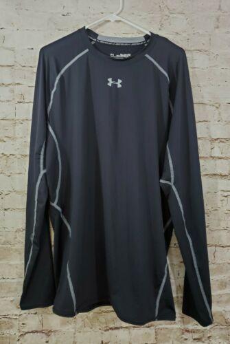 ua men s heatgear compression shirt black