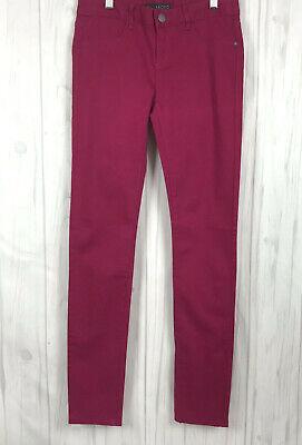 Billabong Jeans Size 28 Women Skinny Leg Denim Peddler Stretch Fuchsia Wash