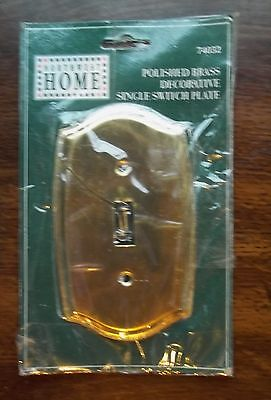 Northwest Switchplate - Polished BRASS Decorative SINGLE Toggle Switch Wall Plate Cover NORTHWEST HOME