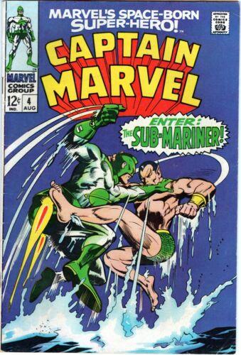 Captain Marvel #4 Silver Age Collectible Comic Sub-Mariner! Marvel Comics!
