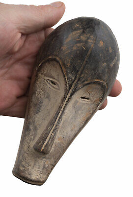 Mask Pasport Diminutive African Fang Ngil Gabon Wood 16cm Art First 16696