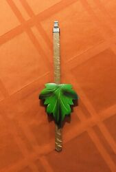 Cuckoo Clock Parts- Beautifull Green Maple  Leaf Pendulum (12)