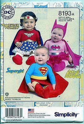 Hero Costumes for Infants - Wonder Woman/Supergirl/Batgirl Simplicity Sewing Ptn - Batgirl Costumes For Toddlers
