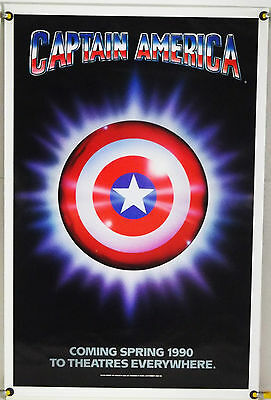 CAPTAIN AMERICA ROLLED TSR ORIG 1SH MOVIE POSTER MATT SALINGER NED BEATTY (1990) - 1990 Captain America Movie