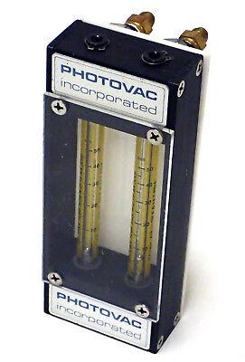 Photovac Inc Dual Flow Meter W 2x Brooks Tube Size R-2-15-aa 14.7 Psia