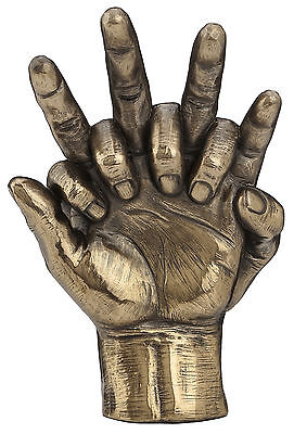 Hands Entwined Love Romance Statue Sculpture Figurine Collectible Bronze Art