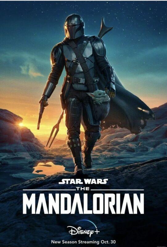 Mandalorian Original (27x40 Double Sided One Sheet Poster) RARE Star Wars OOP