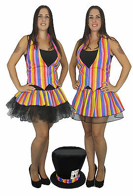 Mad Hatter Rainbow Pride Bright Tutu Set Fancy Dress Accessories Lot (Mad Hatter Kostüm 10/6)