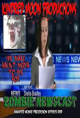Zombie Newscast TV Haunted House Projection Video Effects DVD Halloween prop - Halloween Projection Zombies