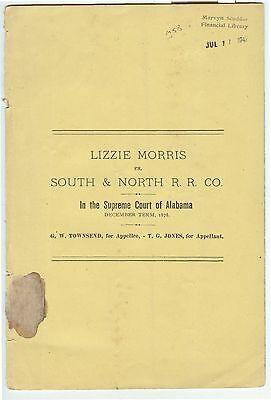 Lot @ 6 old legal briefs in re SOUTH & NORTH ALABAMA RAILROAD Birmingham Alabama