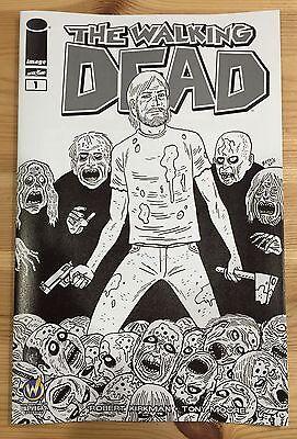 Walking Dead  1 Las Vegas 2015 Wizard World Comic Con Variant Hernandez Sketch