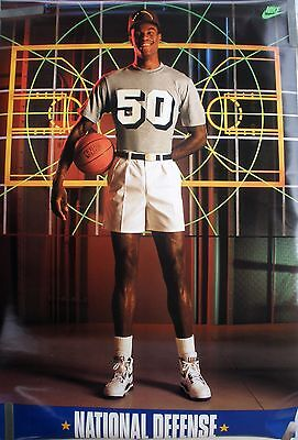 cace55c20e6 RARE DAVID ROBINSON SPURS NATIONAL DEFENSE 1991 VINTAGE ORIGINAL NIKE NBA  POSTER