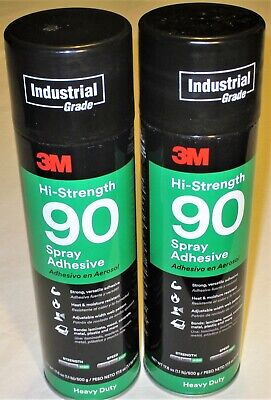 3m Hi Strength 90 Contact Spray Adhesive Lot Of 2 17.6 Oz Cans Heavy Duty Fast