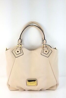Marc Jacobs Tote Large Leather Classic Double Handle Handbag (Shell) - New Classic Double Handle