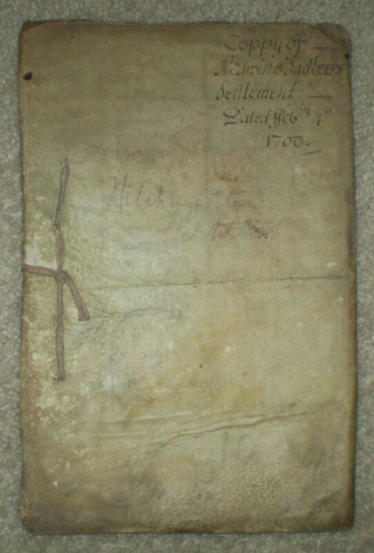 VERY RARE, INDENTURE TRIPARTITE, 35 PAGE MANUSCRIPT, 1706, EDWIN SADLEIR, VELLUM