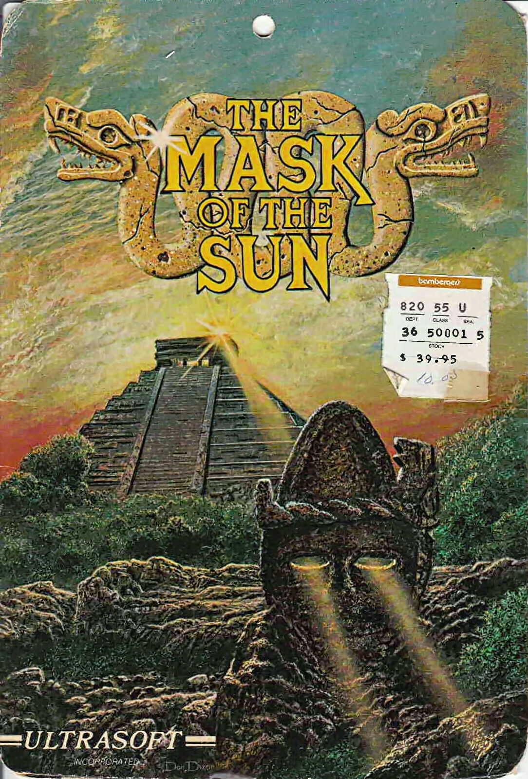Computer Games - The Mask of the Sun for Apple II Ultrasoft vintage computer game 1982 Broderbund
