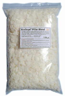 2kg EcoSoya Pillar Blend for Pillar / Votive / Tart Candles - Soy / Soya Wax