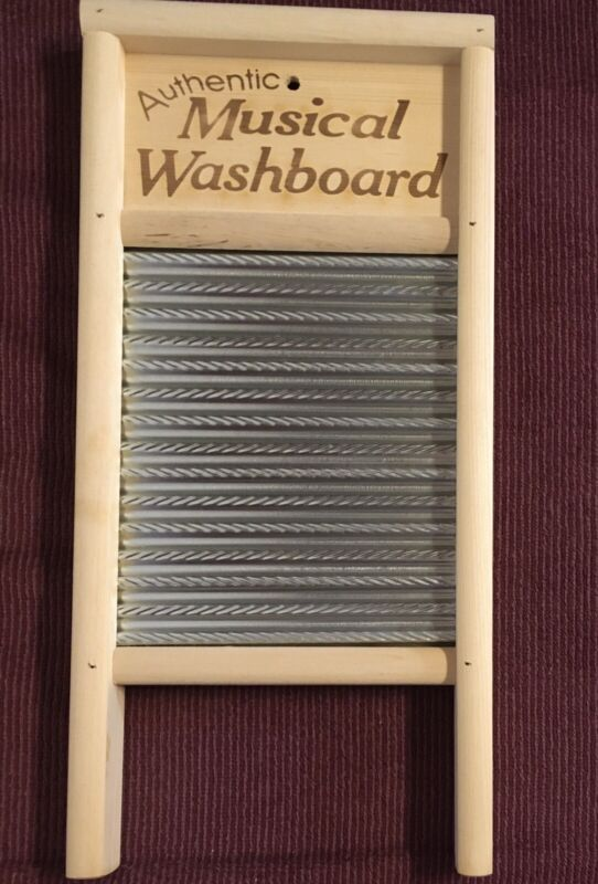 Authentic Musical Metal Washboard & 2 Thimbles for Country Jamboree Percussion