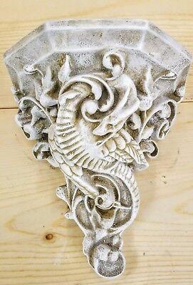 Mythical Dragon Bracket Sconce Wall Decor Antique Finish