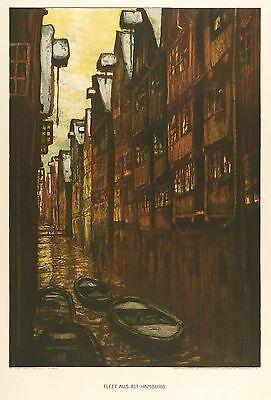 HAMBURG - ALTSTADT - FLEET - Ernst Kolbe - Farblithografie 1910