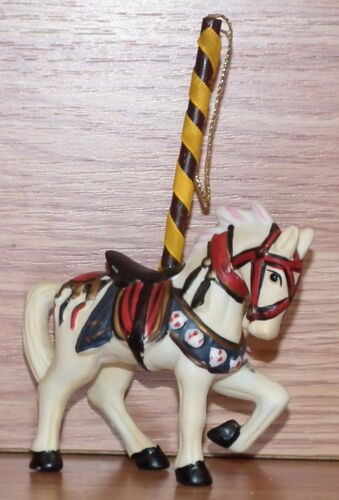 Unbranded Hand Painted Ceramic Carousel Horse Christmas Ornament **READ**