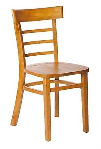 New Swan Timber Teak Dining Chairs Cafe Restaurant Bar Table Melbourne CBD Melbourne City Preview