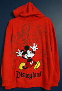 New Disney Parks MICKEY DISNEYLAND Sweatshirt Hoodie Jacket Mens XXL