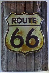 ROUTE 66 , BLECHSCHILD USA HIGHWAY