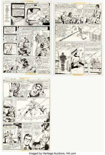 Superman #311 (DC, 1975) Page 4, 6, 7 Curt Swan Original Art (Kent using Powers)