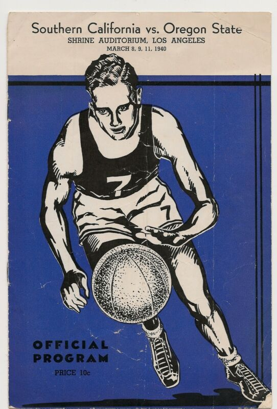 1939-40 Southern California-Oregon State Playoff Program Trojans Top OSU RARE!!