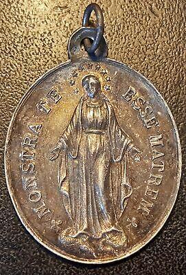 Religious medal Religious Silver Nonstra Te Esse Matrem big Format