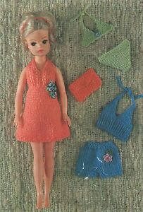 Doll Clothes Knitting Pattern : 12 inch Doll : Sindy : Barbie | eBay