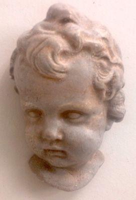 Vintage Eros Cherub Angel Face Wall Plaque Antique Finish