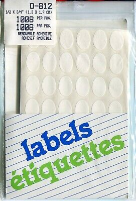 Weeda New Pack Of 1008 Peelable Blank Price Sticker Labels - Oval 12 X 34