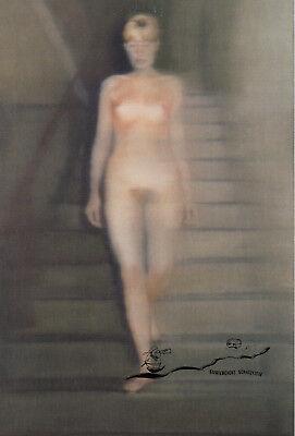 Kunstkarte: Gerhard Richter - Ema-Akt auf einer Treppe