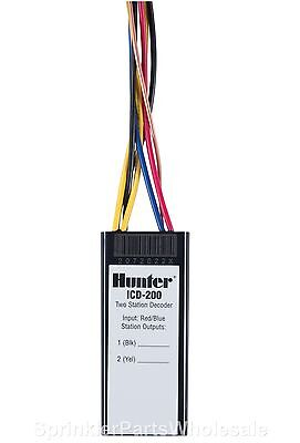 Hunter ICD-200 Two Station Dual Decoder Module ACC99D 2 Wire Controller Timer
