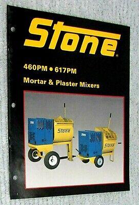 1985 Stone Construction Equipment Mortar Plaster Mixer 460 617 Brochure Free Sh