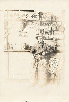 1940s Photo Booth / arcade Photo No 19 Cowboy with wild west bar scene (Cowboy Photobooth)