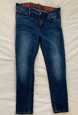 Superdry Travis 02 Skinny Jeans 34x32 Dark Wash